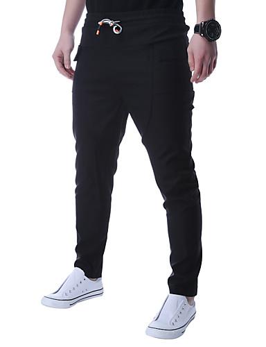Homens Temática Asiática Justas / Skinny Calças Esportivas Calças - Sólido