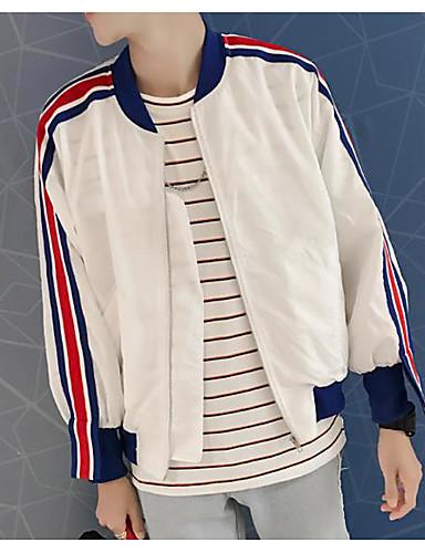 Herren Einfarbig Vintage Street Schick Ausgehen Lässig/Alltäglich Jacke,Ständer Sommer Frühling Lange Ärmel Kurz Others
