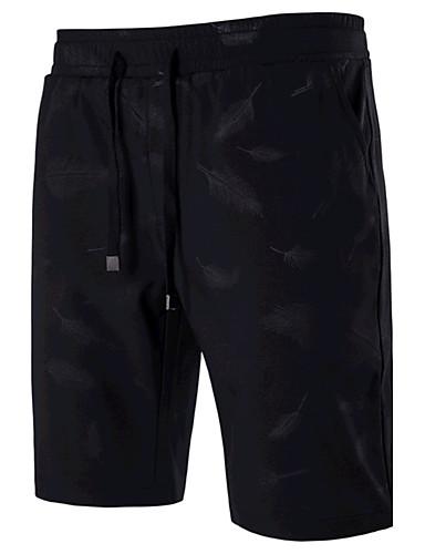 Pánské Na běžné nošení Aktivní strenchy Rovné Kraťasy Kalhoty Mid Rise Jednobarevné Léto