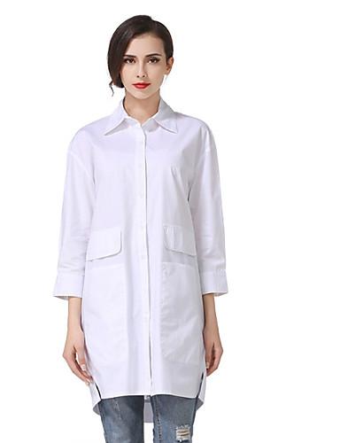 Dámské - Jednobarevné Tričko Bavlna