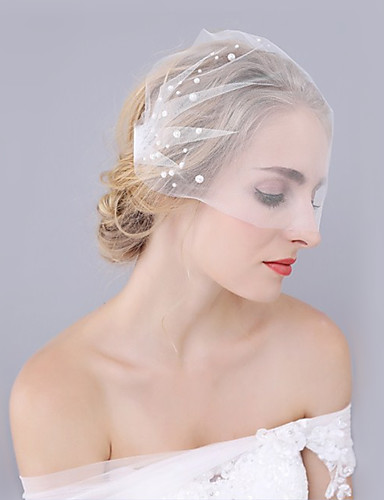 Einschichtig Schnittkante Hochzeit Hochzeitsschleier Hochzeitsschleier Mit Spitze Prinzessin-Stil