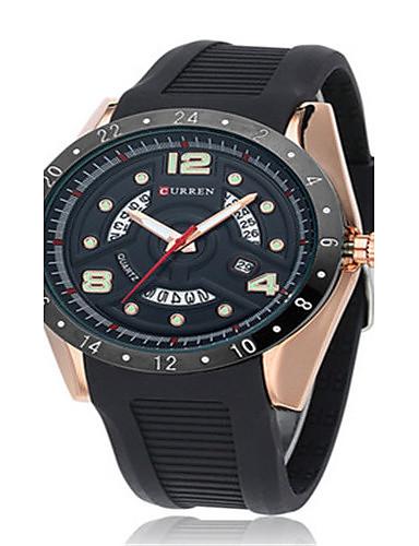 Pánské Sportovní hodinky Módní hodinky Křemenný Silikon Kapela Černá Modrá