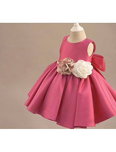 Plesový šaty koleno délka květina holka šaty bez rukávů lopatka krk