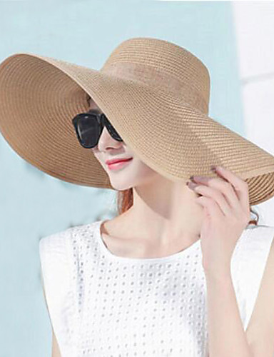 Women's Holiday Sun Hat - Solid Colored Pure Color