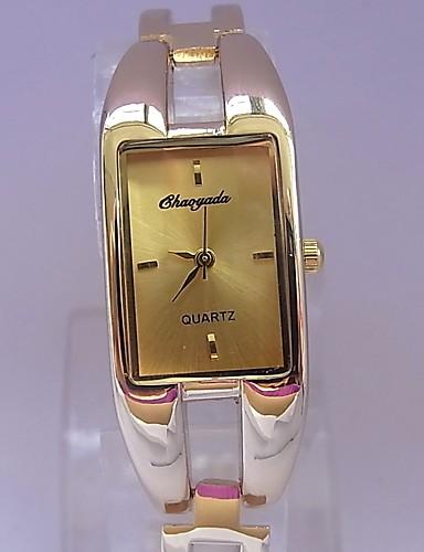 Damen Modeuhr Armbanduhr Quartz Legierung Band Armreif Gold