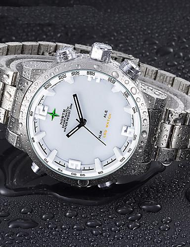 Homens Quartzo Digital Relogio digital Relógio de Pulso Relógio Militar Relógio Esportivo Japanês Calendário Impermeável LED Mostrador