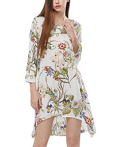 52a63eed51 Szyfon Sukienka Damskie Boho Kwiaty