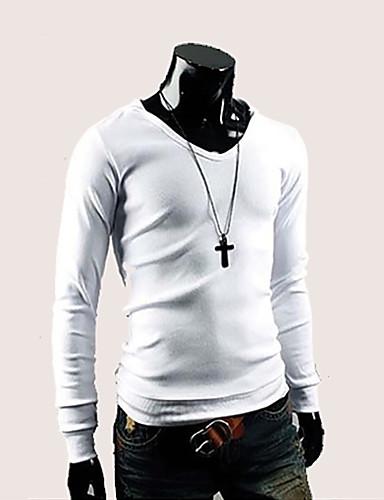 Homens Tamanhos Grandes Camiseta Casual Sólido Moderno Algodão Com Capuz
