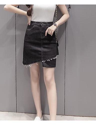 Dámské Jednoduchý Mikro elastické Kraťasy Kalhoty Široké nohavice Mid Rise Jednobarevné