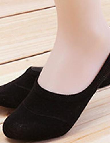 Dámské Jednolitý Ponožky Tenké Bílá Černá Šedá