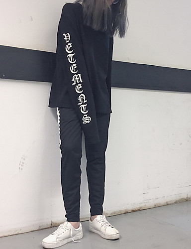 Dámské Cikánský Džíny Kalhoty Volné High Rise Jednobarevné