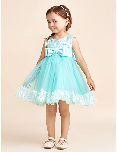 cabffec05cca Πριγκίπισσα σύντομο   μίνι φόρεμα κορίτσι λουλουδιών - πολυέστερ τούλι  αμάνικο λαιμό σέσουλα με πλώρη