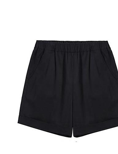 Dámské Jednoduchý Není elastické Kraťasy Kalhoty Volný Mid Rise Jednobarevné