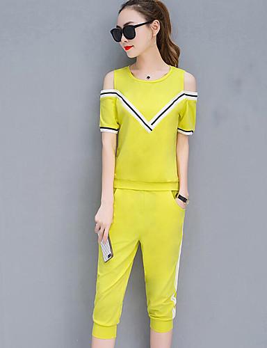 Women's Slim T-shirt - Striped Pant