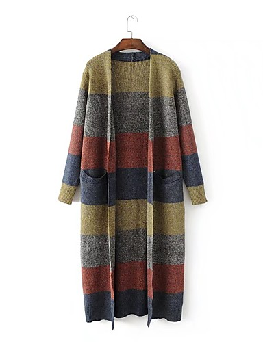 Women's Daily Going out Casual Street chic Long Cardigan