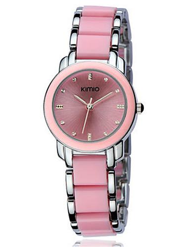 Women's Fashion Watch Quartz Alloy Band Black Silver Pink