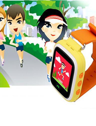 enfant montre tendance montre bracelet montre smart watch num rique caoutchouc bande bleu orange. Black Bedroom Furniture Sets. Home Design Ideas