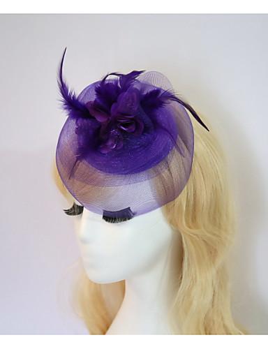billige Hatte & Imponeringer-Harpiks / Bomull fascinators / blomster / Hatter med 1 Bryllup / Spesiell Leilighet / Halloween Hodeplagg