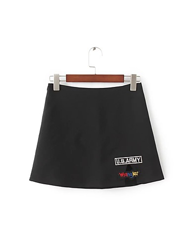 Women's Going out Daily Above Knee Skirts