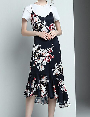 Women's Daily Casual Summer Blouse Skirt Suits