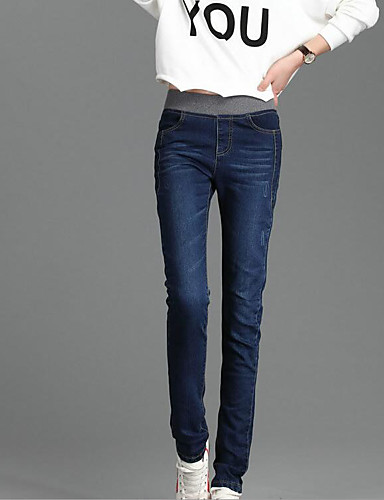Women's Classic & Timeless Skinny Slim Leggings Pants - Solid Colored Solid Color Butterly Style Modern Style