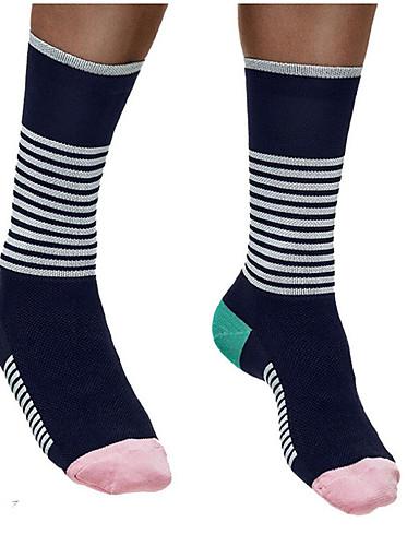 cheap Cycling Clothing-Compression Socks Sport Socks / Athletic Socks Cycling Socks Men's Women's Cycling / Bike Running Bike / Cycling Anatomic Design Protective 1 Pair Winter Nylon Spandex White / Black Black / Green