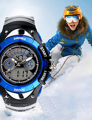 Homens Relógio Esportivo Relógio inteligente Relógio de Pulso Digital Cores Múltiplas 30 m Impermeável Calendário Criativo Analógico-Digital Amuleto Fashion Relógio Elegante Relógio Criativo Único -