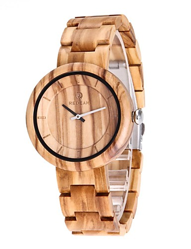 Men's Wood Watch Japanese Quartz Wooden Wood Band Luxury Elegant Beige