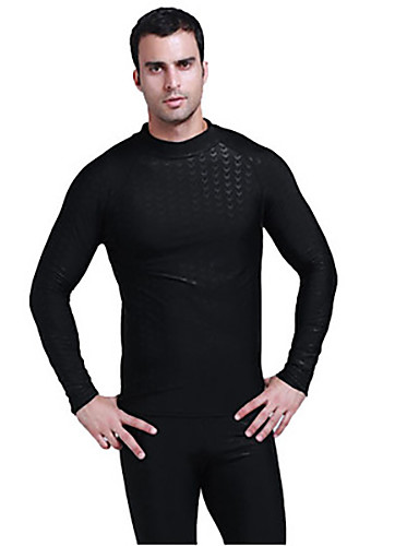 001e6fc257e1d SBART Men's Wetsuit Top 1mm Elastane Swimwear Diving Suit Sun Shirt  Waterproof Thermal / Warm Ultraviolet Resistant Long Sleeve Swimming Diving  Surfing ...