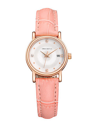 Women's Fashion Watch Japanese Quartz Calendar Water Resistant / Water Proof Leather Band Pink Purple