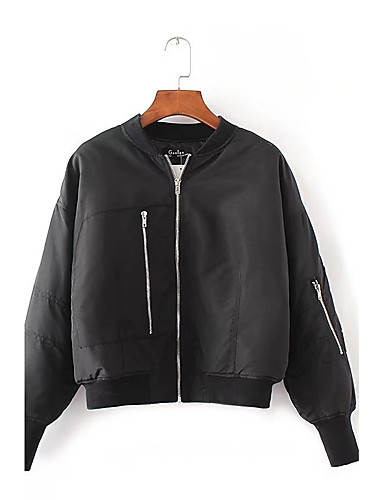 Women's Daily Casual Street chic Spring Fall Jacket