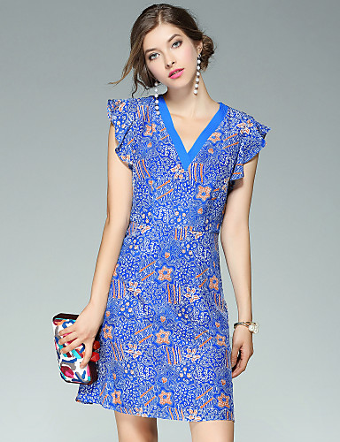 Women's Going out Daily Street chic Sheath Dress