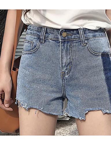 Women's High Waist Micro-elastic Shorts Pants,Simple Straight Solid