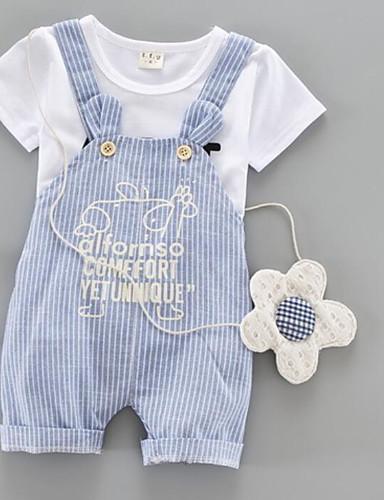 Boys' Stripe Print Sets,Cotton Summer Clothing Set