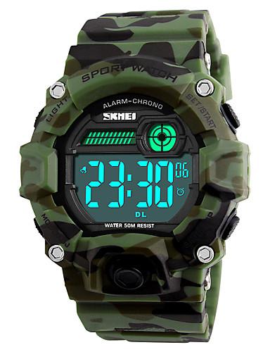 SKMEI Homens Digital Relogio digital Relógio de Pulso Relógio Militar Relógio Esportivo Japanês Alarme Calendário Impermeável LED