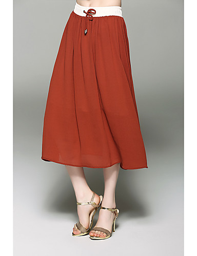 Women's Holiday Going out Daily Midi Skirts