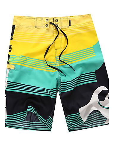 Homens Calcinhas, Shorts & Calças de Praia - Padrão, Estampado