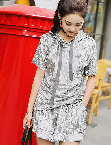 Women's Daily Sports Casual Summer T-shirt Pant Suits