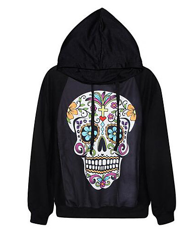 Women's Going out Hoodie 3D Print Hooded Micro-elastic Others Long Sleeve Spring Fall