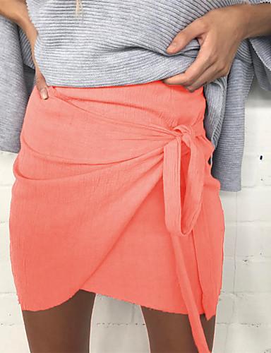 Women's Work Vintage Bodycon Skirts - Solid, Split