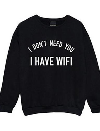 Men's Long Sleeves Sweatshirt Print Round Neck