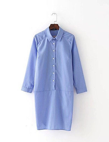 Women's Going out Daily Simple Street chic Shirt Dress
