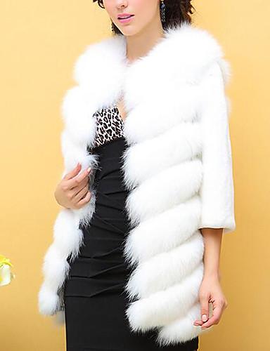Women's Daily Casual Fall Winter Fur Coat