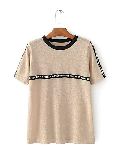 Women's Going out Daily Casual Sexy Street chic Summer T-shirt
