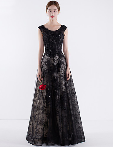 Ball Gown Jewel Neck Floor Length Tulle Formal Evening Dress with Bandage by