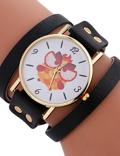 Mulheres Único Criativo relógio Bracele Relógio Relógio de Moda Relógio Esportivo Relógio Casual Quartzo Couro Banda Amuleto Luxo