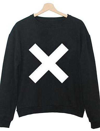Men's Daily Casual Sweatshirt Print Round Neck Inelastic Cotton Long Sleeve Fall
