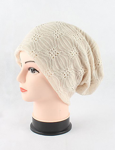 Women's Cotton Beanie/Slouchy Floppy Hat,Headwear Cute Casual Chic & Modern Casual/Daily Hats Knitwear Jacquard Spring Fall Sequins Pure
