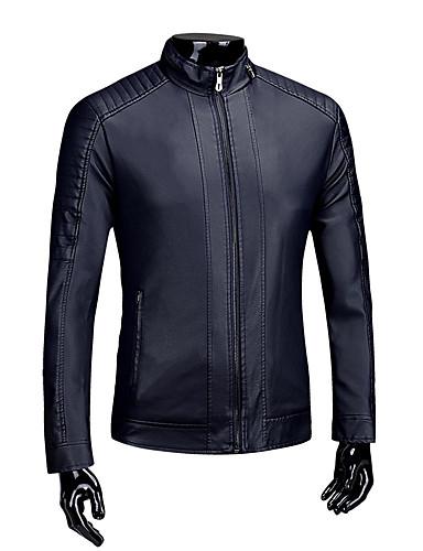 Állógallér Férfi Extra méret Kožnate jakne - Egyszínű