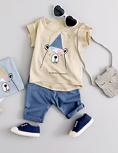 Boys' Cartoon Sets,Cotton Summer Clothing Set
